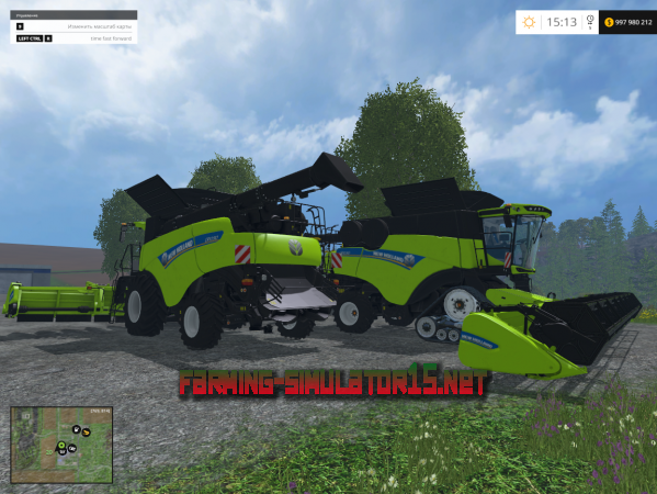 ��� Mod New Holland CR1090 Pack V 1.0 ��� Farming Simulator 2015