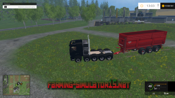 Мод Volvo FH16 8x8 & 10x10 Heavy Duty для Farming Simulator 2015