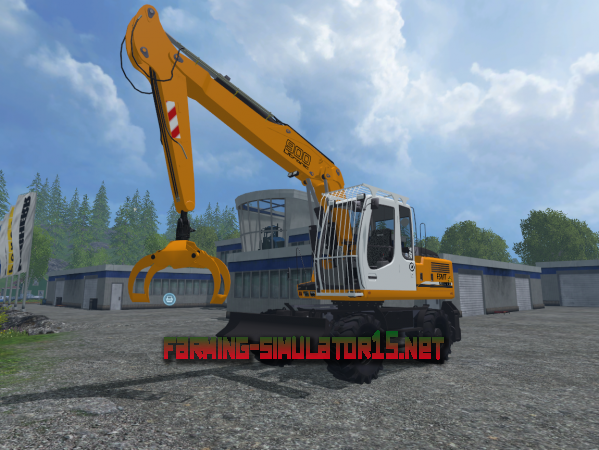 Мод Liebherr 900C Litronic v 1.0 - Экскаватор для Farming Simulator 2015
