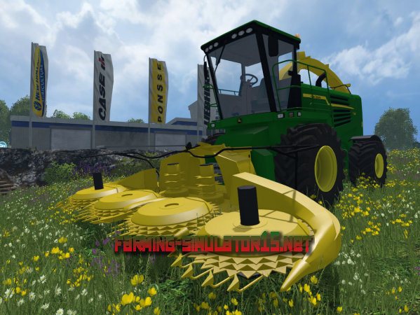 Мод John Deere 7180 Kemper 460plus V 1.0 - Комбайн для Farming Simulator 2015