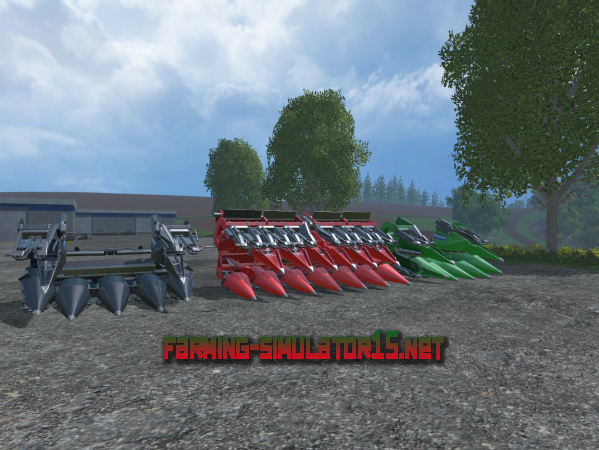 Мод New Holland Maize Header Pack V 1.0 - Жатки для Farming Simulator 2015