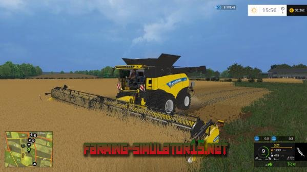 Мод NH CR1090 yellow V 1.0.1 - Комбайны и жатки для Farming Simulator 2015
