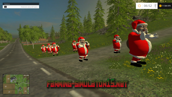 ��� Placeable Santa-Klaus v1.0 ��� Farming Simulator 2016