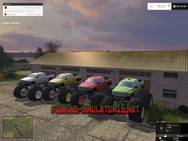 мод Авто Monster Truck V 1.0 для Farming Simulator 2015