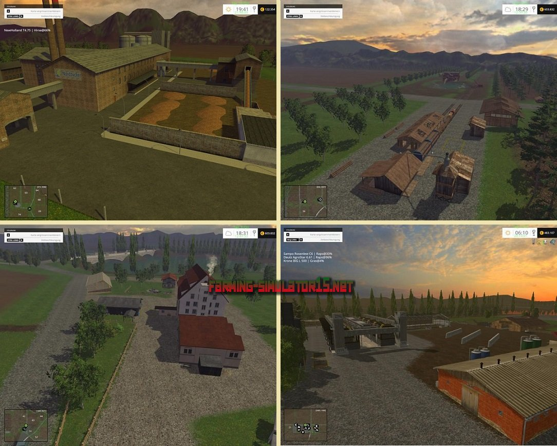 мод Dondiego Map Reloaded V 5.2 для Farming Simulator 2015