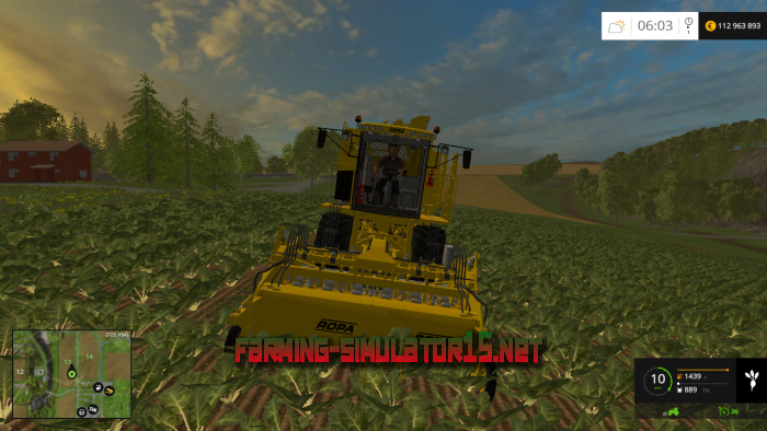 мод Ropa Euro Tiger V8 3 v 1.1 для Farming Simulator 2015