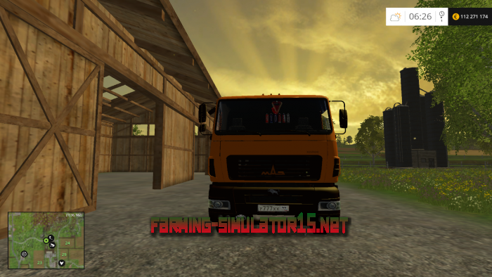мод МАЗ КОЛОС v.1.2 для Farming Simulator 2016