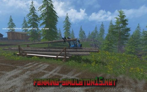"Мод ""Timber Loading Point "" для Farming Simulator 15"
