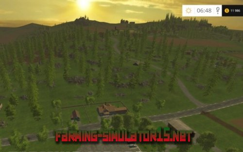 "Мод-карта ""Bojonholm Big Forest"" для Farming Simulator 2015"
