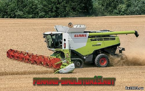Мод комбайн CLAAS Lexion 780 для farming simulator 2013