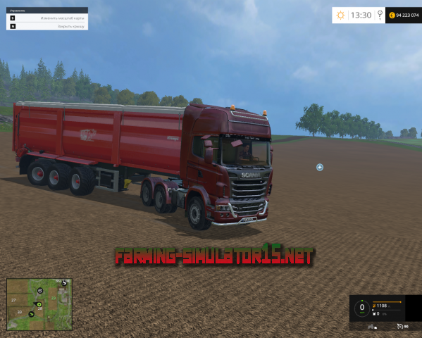 Мод Scania R730 TOP LINE v2 для Farming Simulator 2015