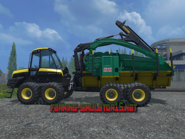 Мод Ponsse Buffalo Tractor with Jenz Chipper для Farming Simulator 2015