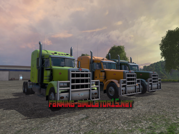 Мод CASPeterbilt 378 V 1.0 для Farming Simulator 2015