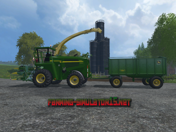 Мод JOHN DEERE 7950I + JD EASY COLLECT + TRAILER для Farming Simulator 2015