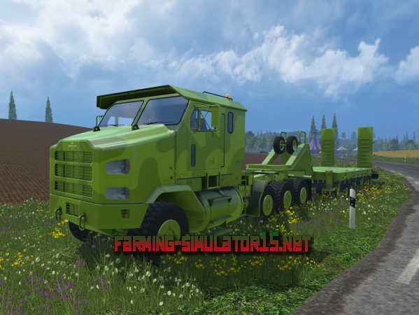 Мод Oshkosh M1070 A1 v 1.0 - Тягач и трал для Farming Simulator 2015