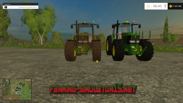 Мод John Deere 6920S v1.0 для Farming Simulator 2015