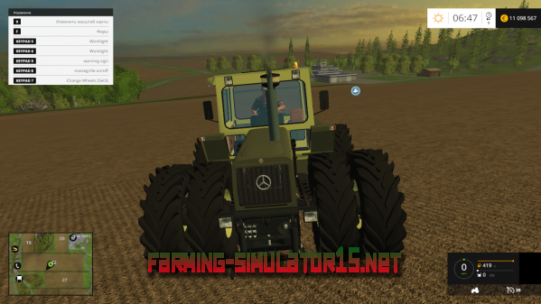 Мод Mercedes 1800 Intercooler v 1.0 для Farming Simulator 2015