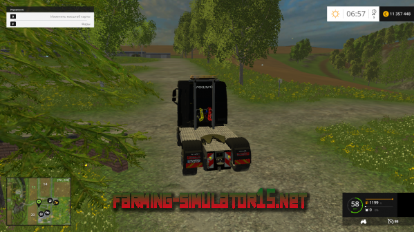 Мод Volvo FH 4x4 Agrar v1.0 для Farming Simulator 2015