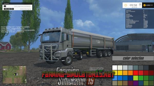 Мод Тягач MAN TGS 18440 Set V 1.4.1 / прицеп Krampe SB 3060 для Farming Simulator 2015