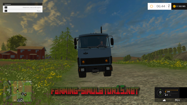 Мод SUPER MAZ v1.0 - Грузовик для Farming Simulator 2015