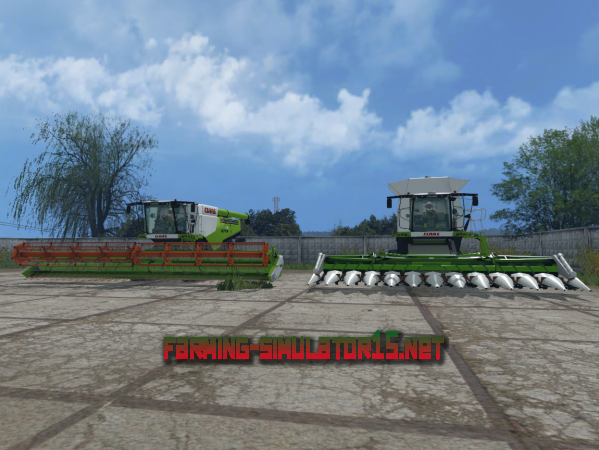 Мод Claas Lexion 780 TT Combines GREEN V 1.2.0 - Комбайн и жатки для Farming Simulator 2015