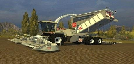 мод Claas Jaguar 900 Cargo White для Farming Simulator 2015