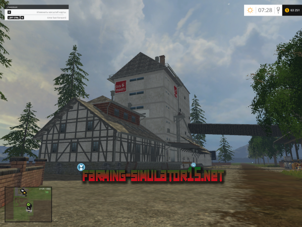 мод Карта BigFarm v 1.0 для Farming Simulator 2015