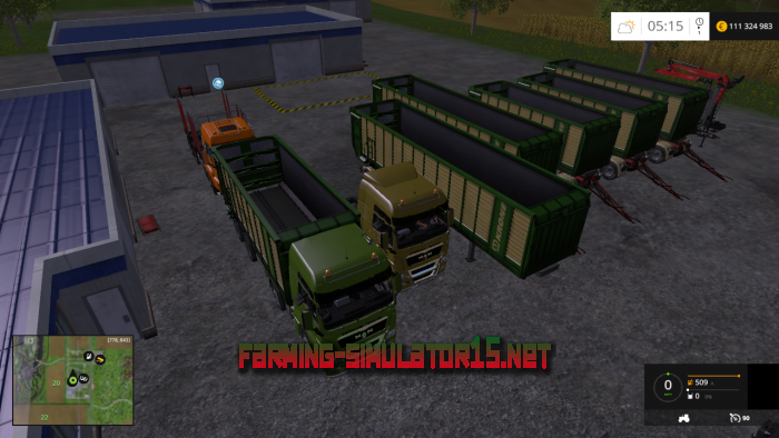 мод MAN Trucks Pack для Farming Simulator 2015