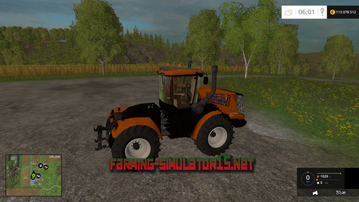 мод Кировец К-9450 для Farming Simulator 2015