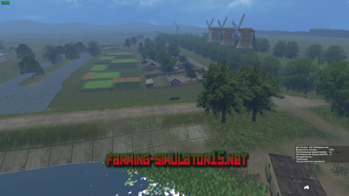 мод Карта VARVAROVKA V1.0 HARD WORK для Farming Simulator 2015