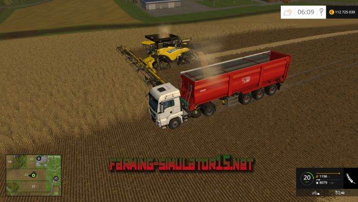 мод New Holland CR10.90 V 3.2 and Reaper 38m V 3.0 для Farming Simulator 2016