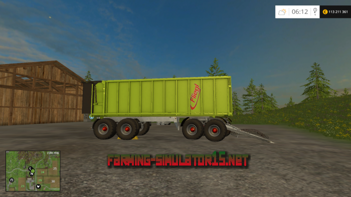 мод Fliegl 4axle Rear Tipper для Farming Simulator 2016