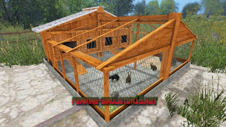 мод FSM RabbitShelter LS15 для Farming Simulator 2016