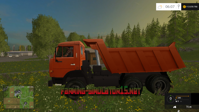 мод КамАЗ 65115 V1.0 для Farming Simulator 2016