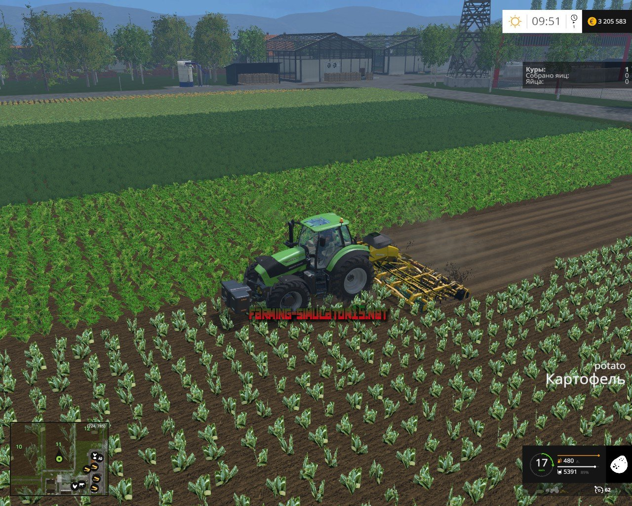 мод in the stubble selca with fertilizing 6000 liters для Farming Simulator 2016