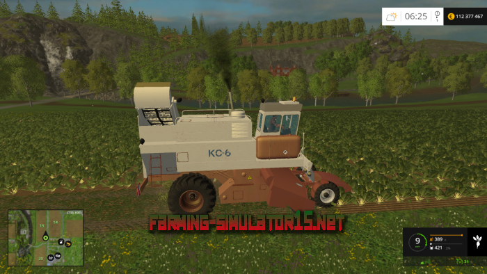 мод Комбайн КС-6 для Farming Simulator 2016