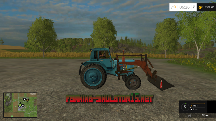 мод МТЗ BELARUS MTZ 82 PKU V1.0 для Farming Simulator 2016