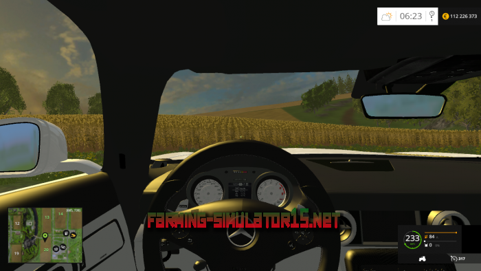 мод Mercedes SLS AMG new version для Farming Simulator 2016