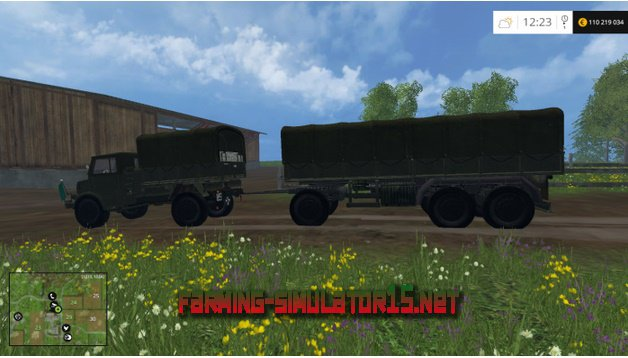 Скачать мод Borgward & Trailer v 1.0 Multifruit для Farming Simulator 2016