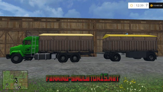 Скачать мод Kraz 64431 and Trailer v1.0 для Farming Simulator 2016