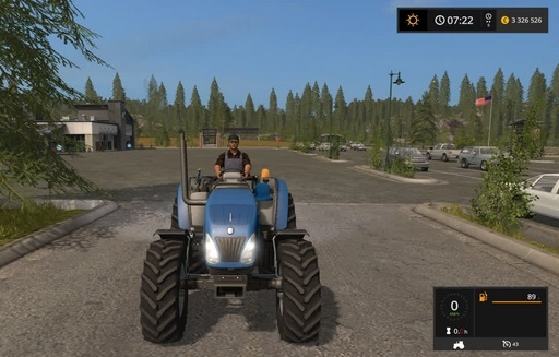 Скачать трактор New Holland T4 75 Garden Edition для Farming Simulator 2017